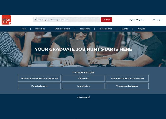 Targetjobs website's screenshot