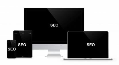 desktop, tablet, apple laptop and a smartphone gadgets